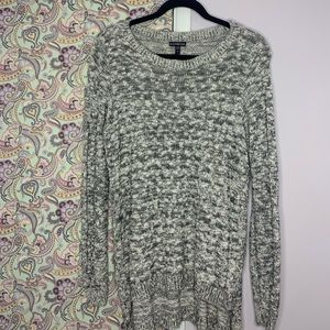 Express Marled Side Slit Sweater